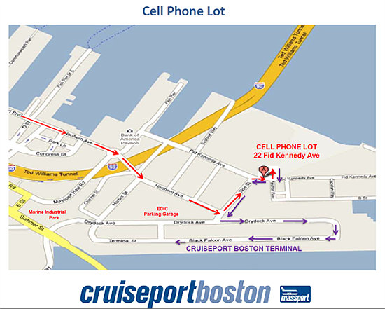 black falcon cruise terminal map Parking At Cruiseport Boston Cruise Port Of Boston black falcon cruise terminal map